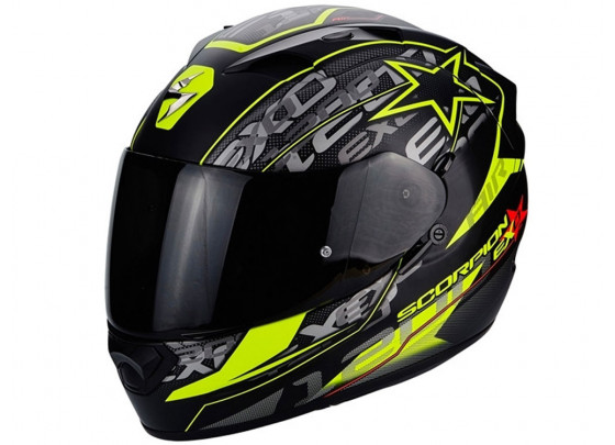 Scorpion Exo 1200 Air Solis Casco integrale (negro/amarillo)