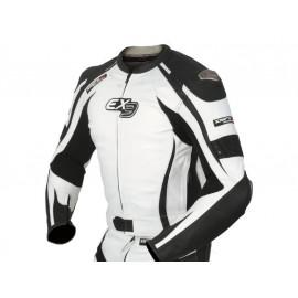 DIFI Chaqueta de moto Imola EX3 Caballero (negro/blanco)