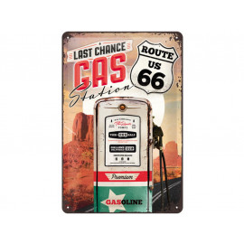 Nostalgic Arts Route 66 Gas Station Metal Sign (20x30cm)