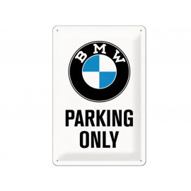 Nostalgic Arts BMW Parking Only White Metal Sign (20x30cm)