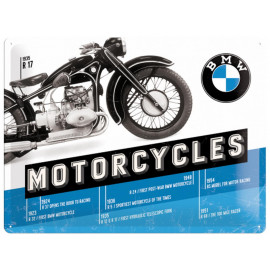 Nostalgic Arts BMW Timeline Metal Sign (30x40cm)