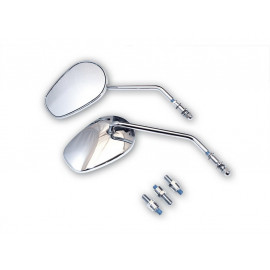 P&W HD-Style Metall Motorcycle Mirror Set (chrome)