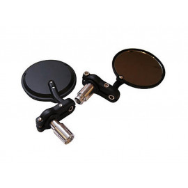 Shin Yo Set Rund Handlebar End Mirror (black)