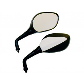P&W Mirror Universal Basic (Pair) (black/white)
