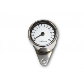 P&W RPM Counter Stainless Steel 60mm electronic 15.000 R/min (white)
