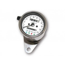 P&W Speedometer Stainless Steel 60mm (white)