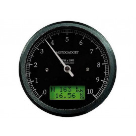 Motogadget Chronoclassic Tachometer (black) green LCD display