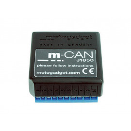 Motogadget m-CAN J1850 signal converter for H-D VRSC