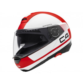 Schuberth C4 Legacy Red Casco Flip-Up (blanco/rojo)