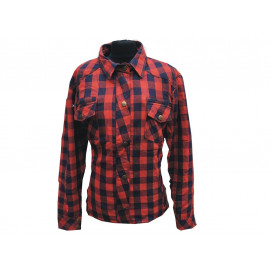 Bores Lumber Jack Shirt Lady Kevlar (red / blue)