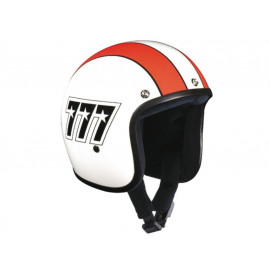 Bandit Jet 777 (without ECE) Jet Helmet (white/orange)