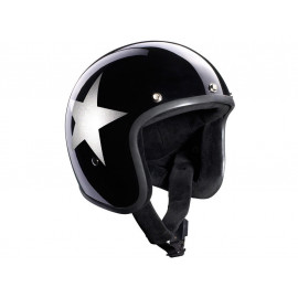 Bandit Jet Star (without ECE) Jet Helmet (black)