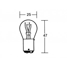 P&W Light Bulb 12V 21-5W BAY15D