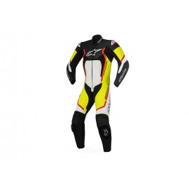 Alpinestars Motegi V2 1-piece Leather Suit Men (black / white / red / neonyellow)
