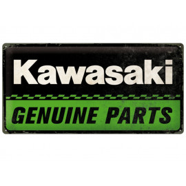 Nostalgic Arts Kawasaki Genuine Parts Metal Sign (25x50cm)