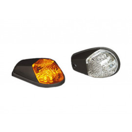 Shin Yo LED Fairing Turn Signal Set (black) clear Glass