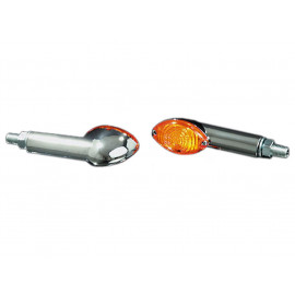 Shin Yo Cateye Long Motorcycle Turn Signal Set (chrome)