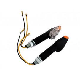 Shin Yo Peak LED Motorcycle Turn Signal Set (black) yellow Glass / long