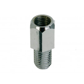 P&W Adapter for Mirror (chrome) M8 (Hole right-hand thread) to M8 (Bolt left-hand thread).
