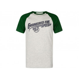 Kawasaki Engineered for Speed T-Shirt Caballero (gris/verde)